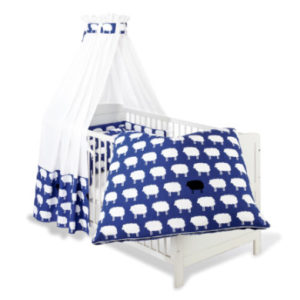 Pinolino Pinolino Set für Kinderbett 4-tlg. Happy Sheep - blau - bestellen für 154.90 € - kindermoebel-outlet.de