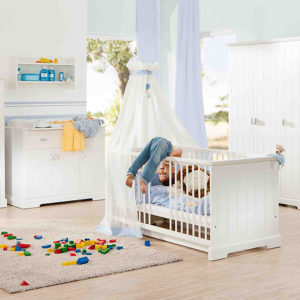 Geuther Kinderbett & Wickelkommode Sparset COTTAGE  weiß Gr. 70 x 140 - bestellen für 929.00 € - kindermoebel-outlet.de
